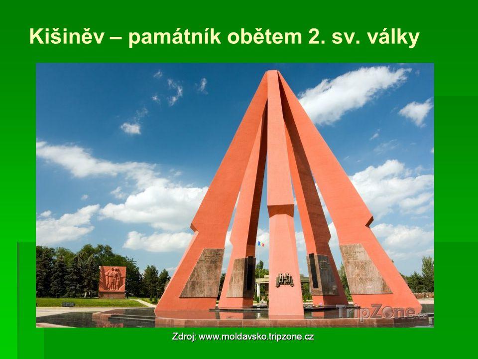 Kišiněv – památník obětem 2. sv. války Zdroj: www.moldavsko.tripzone.cz
