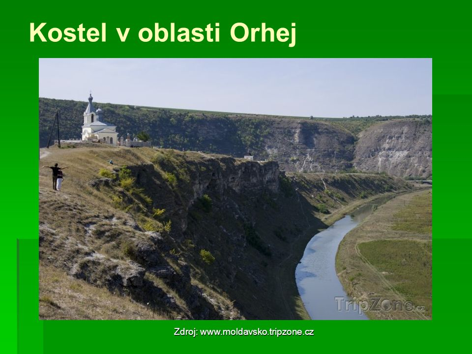 Kostel v oblasti Orhej Zdroj: www.moldavsko.tripzone.cz