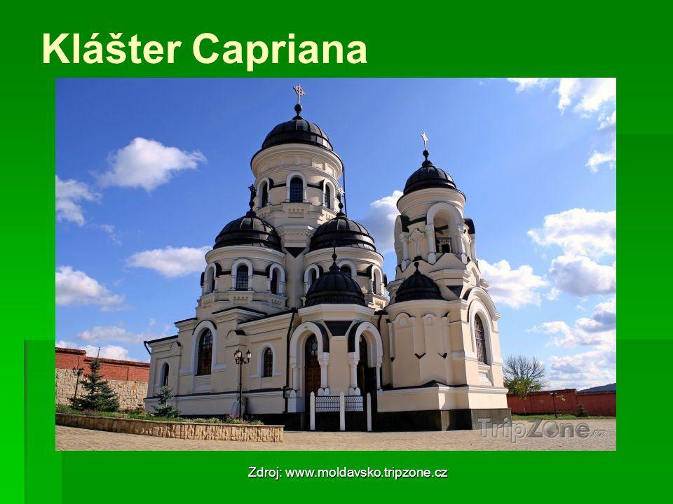 Klášter Capriana Zdroj: www.moldavsko.tripzone.cz
