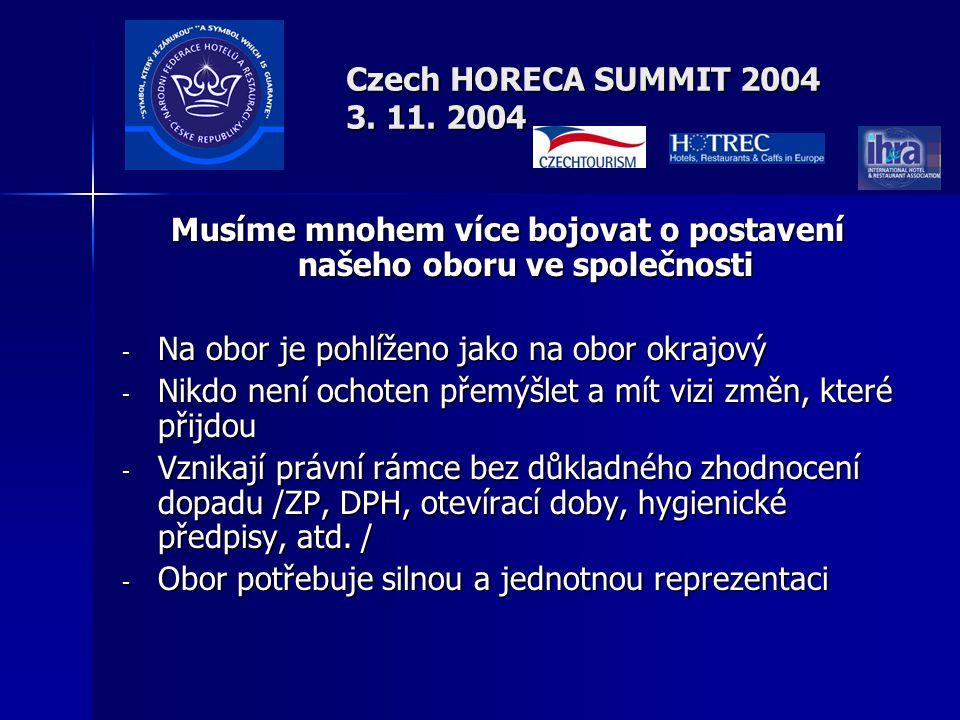 Czech HORECA SUMMIT 2004 3.11.