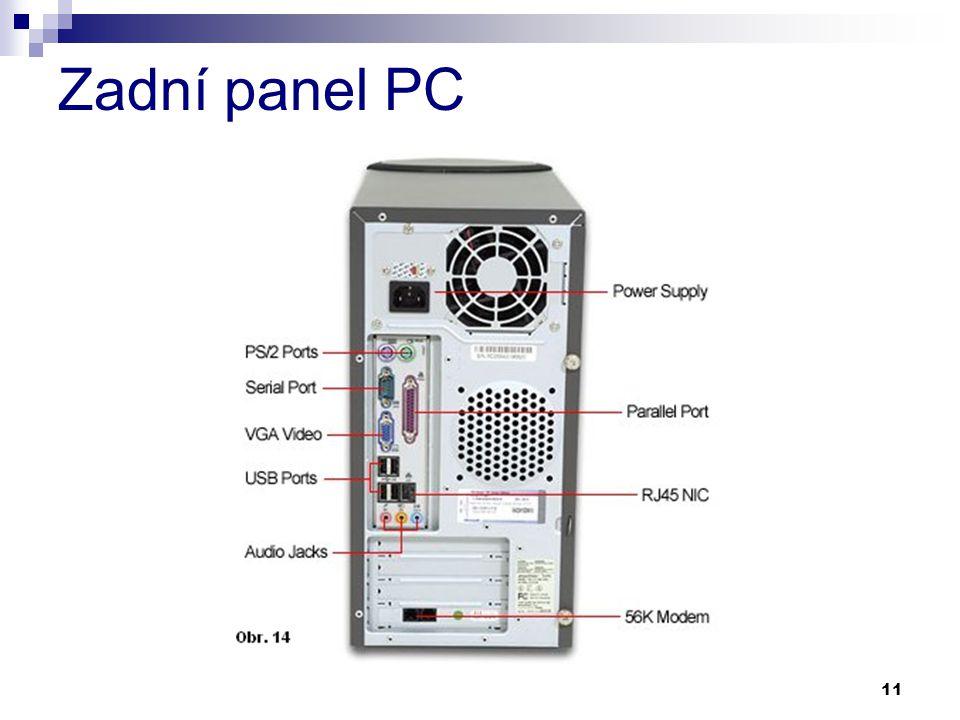 11 Zadní panel PC