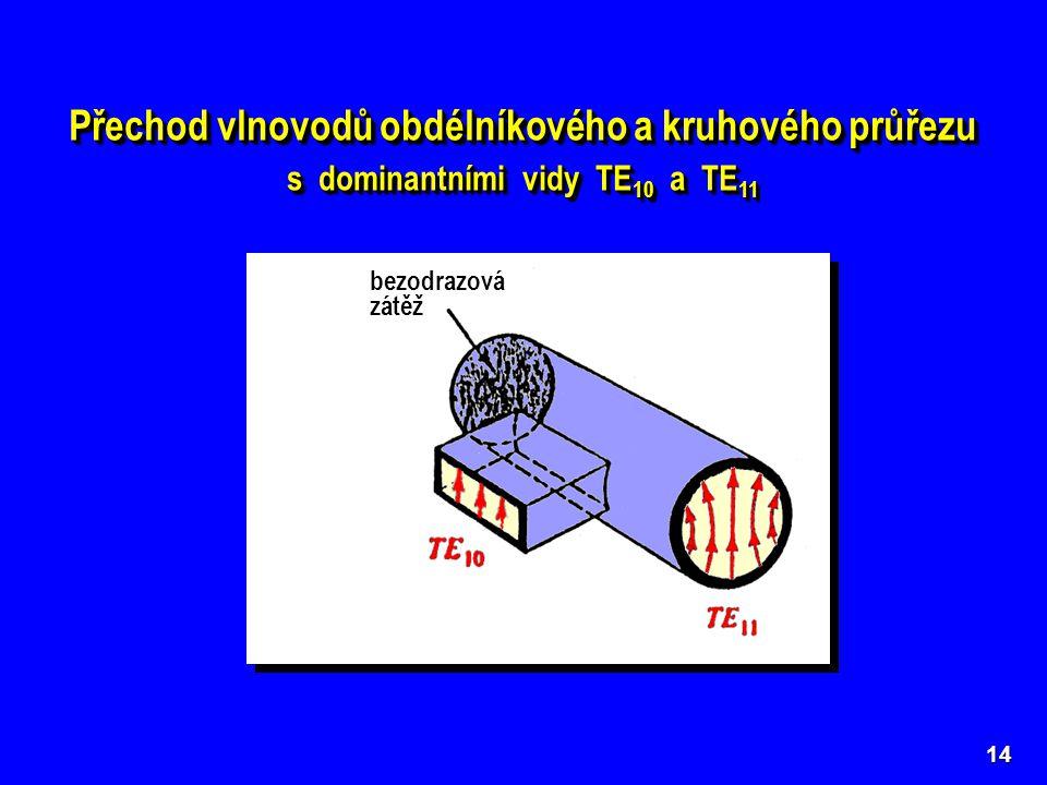 Přechod vlnovodů obdélníkového a kruhového průřezu s dominantními vidy TE 10 a TE 11 Přechod vlnovodů obdélníkového a kruhového průřezu s dominantními