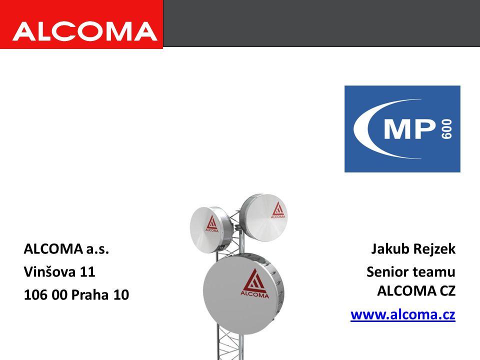 ALCOMA a.s. Vinšova 11 106 00 Praha 10 Jakub Rejzek Senior teamu ALCOMA CZ www.alcoma.cz