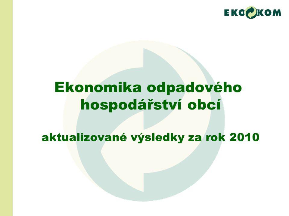 Ekonomika odpadového hospodářství obcí aktualizované výsledky za rok 2010