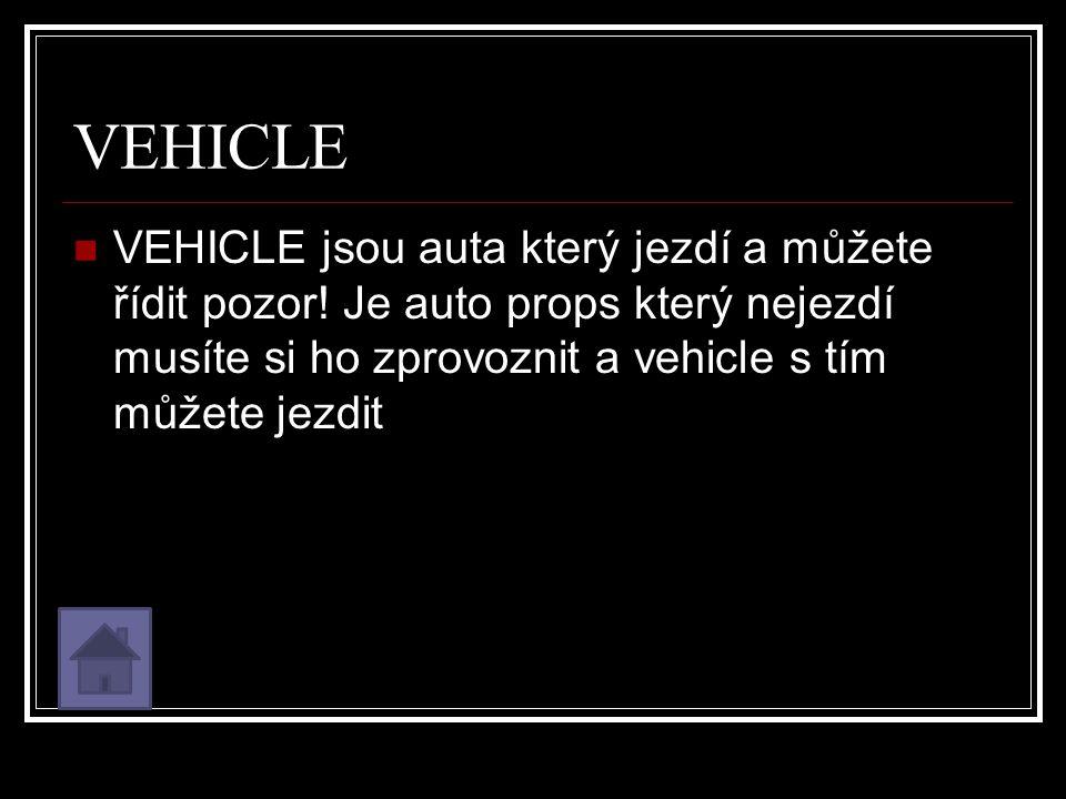 VEHICLE VEHICLE jsou auta který jezdí a můžete řídit pozor.