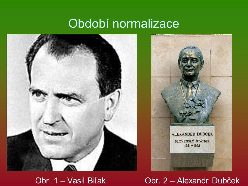 Období normalizace Obr. 1 – Vasil Biľak Obr. 2 – Alexandr Dubček
