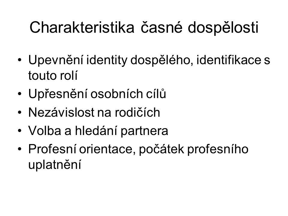 Charakteristika střední dospělosti I.