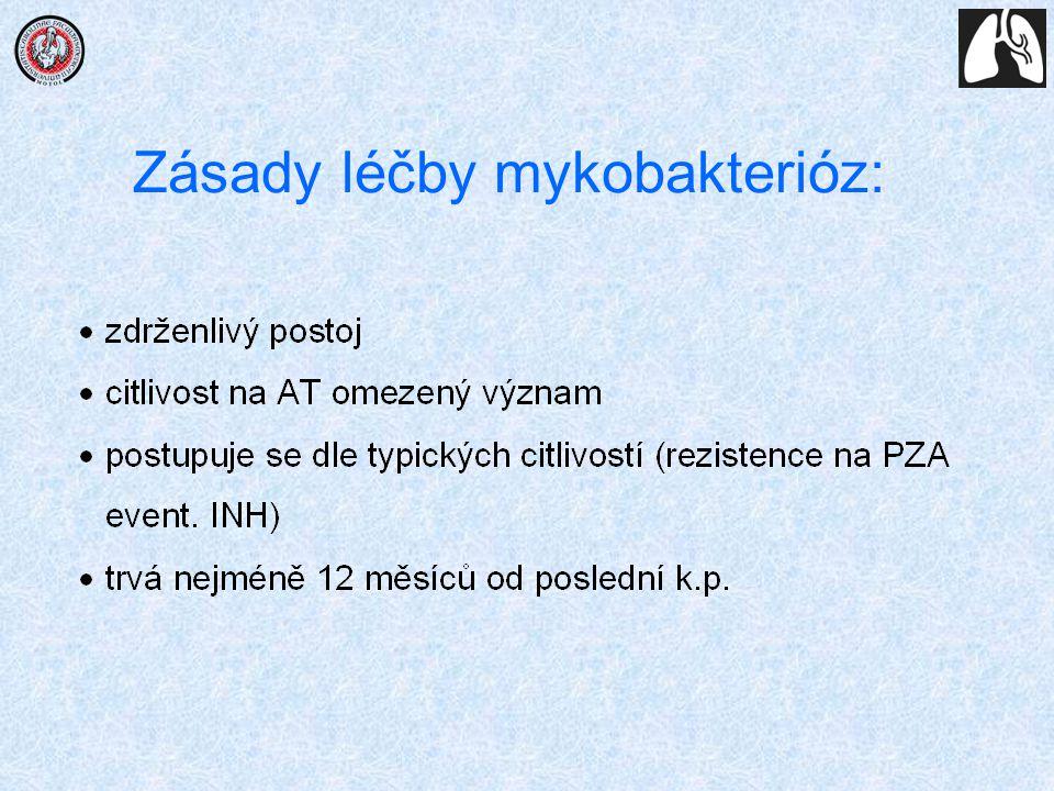 Zásady léčby mykobakterióz: