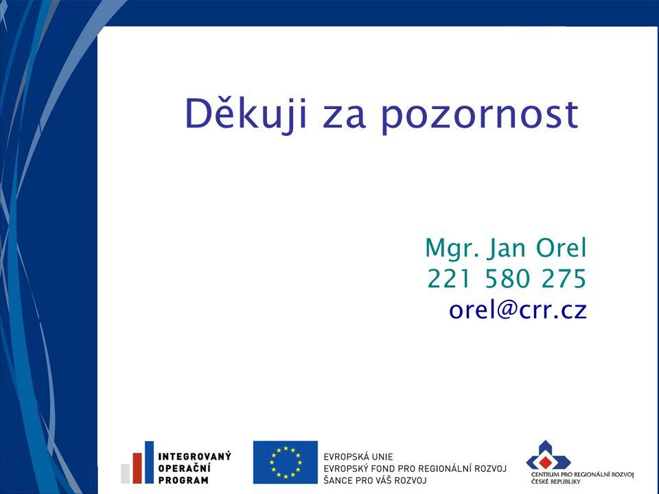 Děkuji za pozornost Mgr. Jan Orel 221 580 275 orel@crr.cz