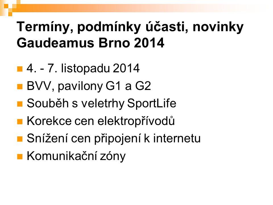 Termíny, podmínky účasti, novinky Gaudeamus Brno 2014 4.