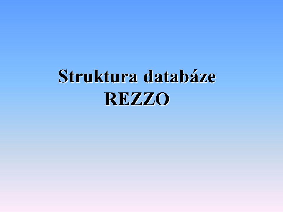 Struktura databáze REZZO