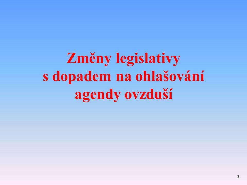 Změny legislativy s dopadem na ohlašování agendy ovzduší 3