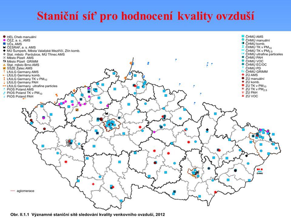 Staniční síť pro hodnocení kvality ovzduší
