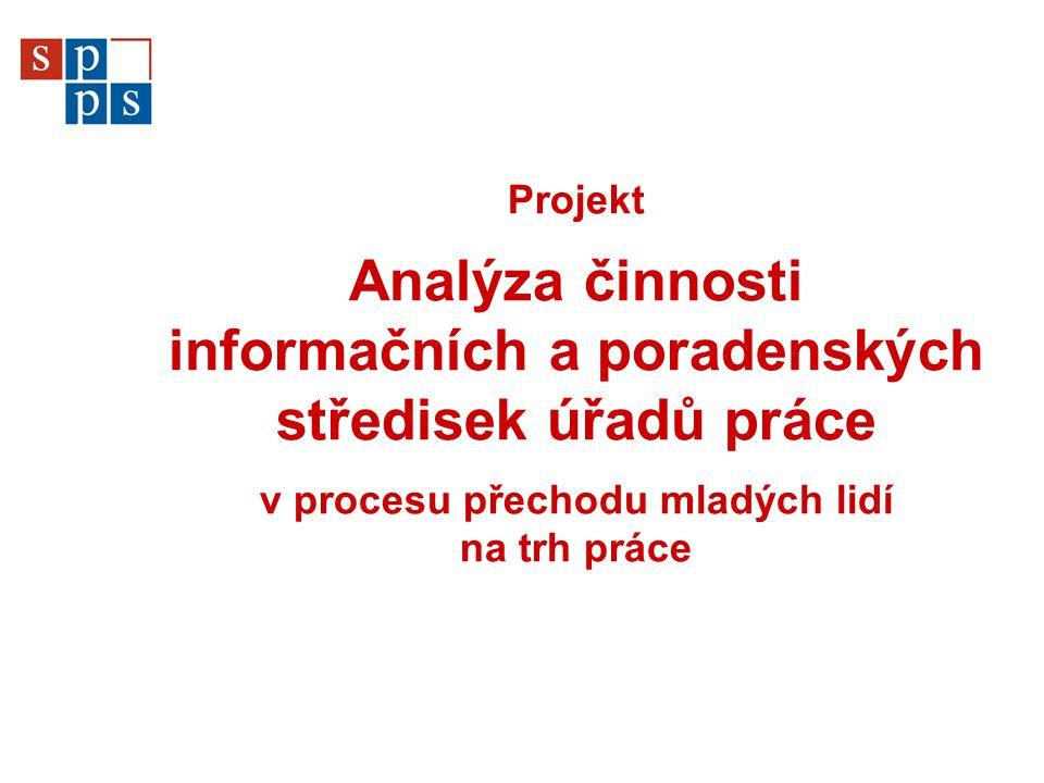 Projekt – základní informace  Zadavatel – MPSV, odbor realizace služeb zaměstnanosti Mgr.