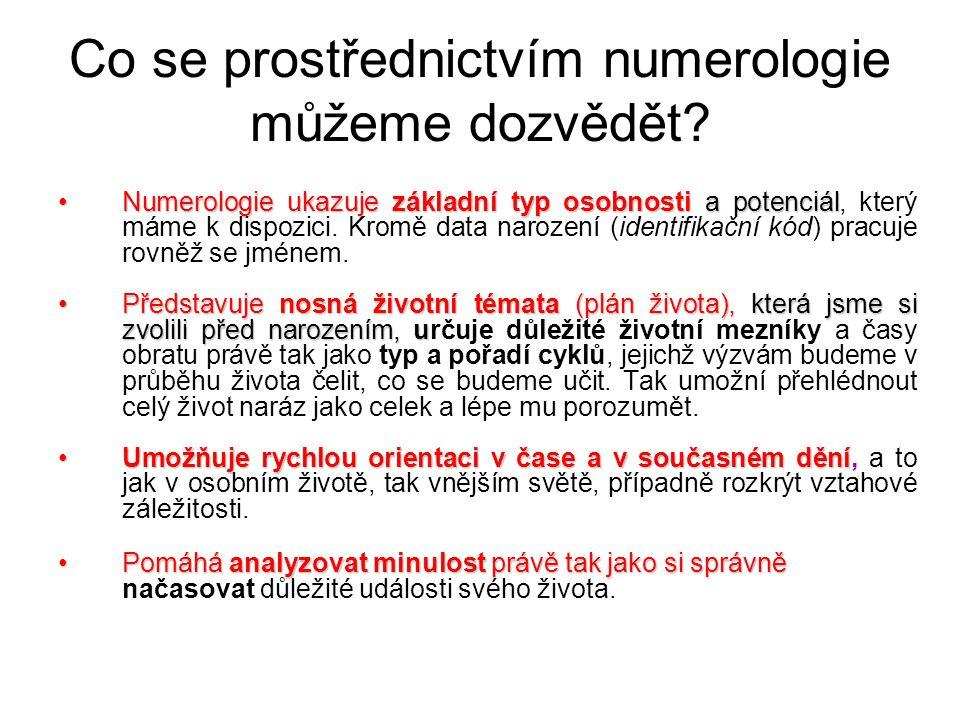Co se prostřednictvím numerologie můžeme dozvědět.