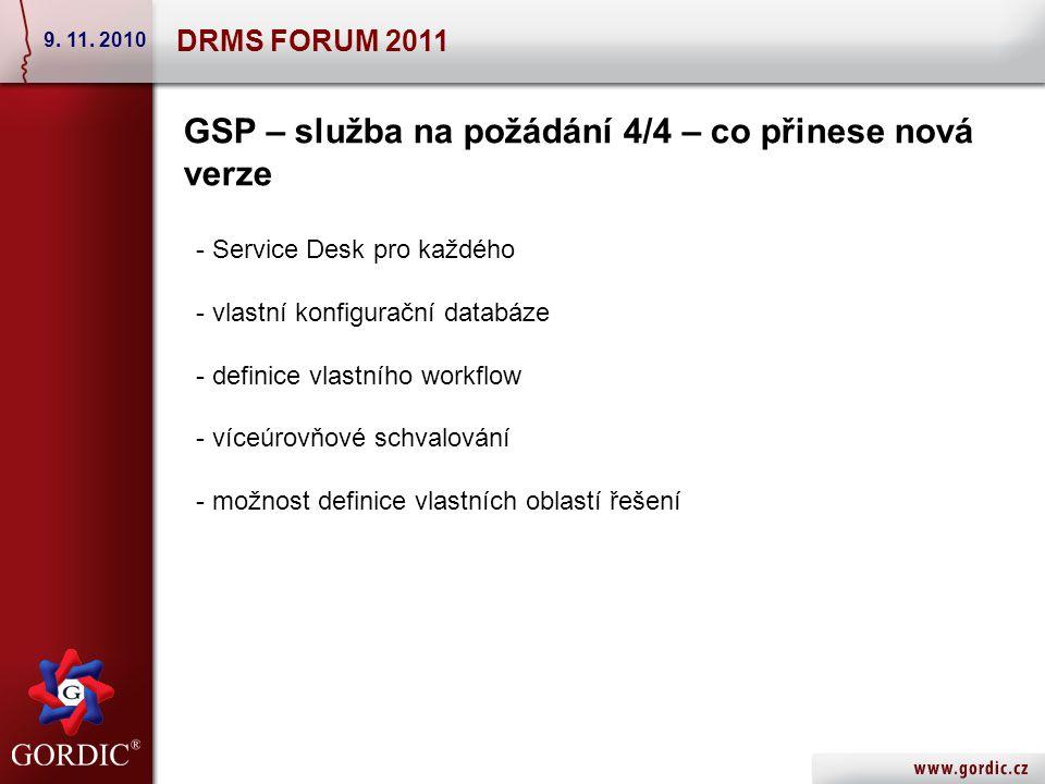DRMS FORUM 2011 9. 11.