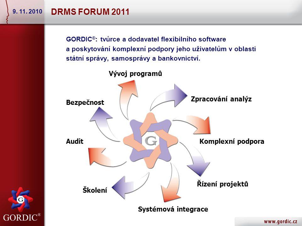 GORDIC ® : tvůrce a dodavatel flexibilního software a poskytování komplexní podpory jeho uživatelům v oblasti státní správy, samosprávy a bankovnictví.