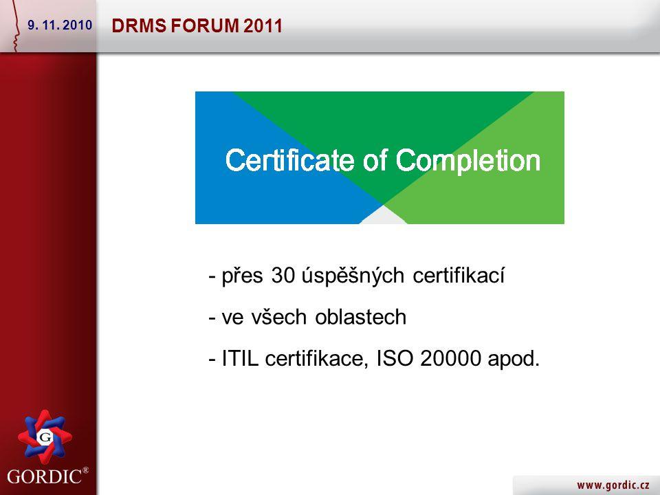 Specializace na následující oblasti Service Desk Manager Identity Manager Role & Compliance Manager Willy DRMS FORUM 2011 9.