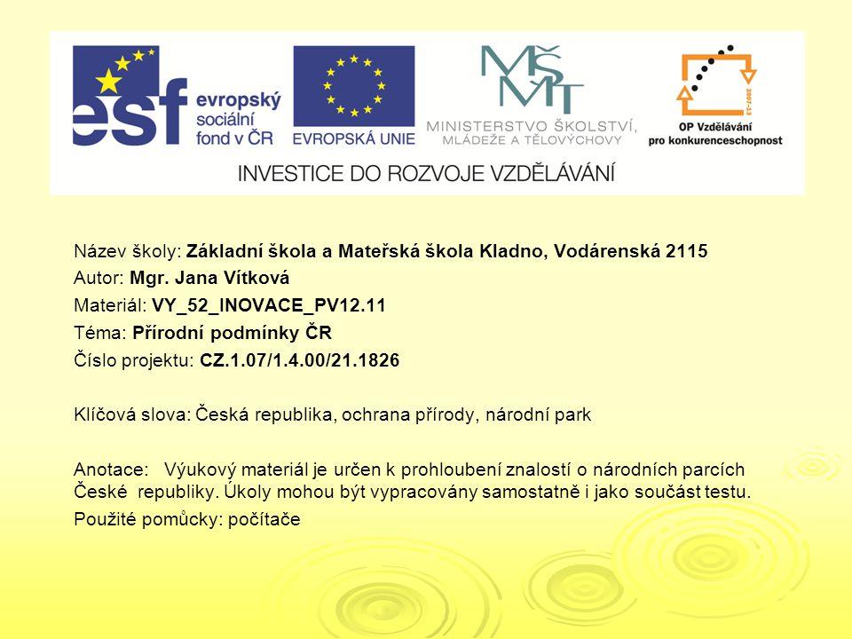 VY_52_INOVACE_PV12.11 VY_52_INOVACE_PV12.11