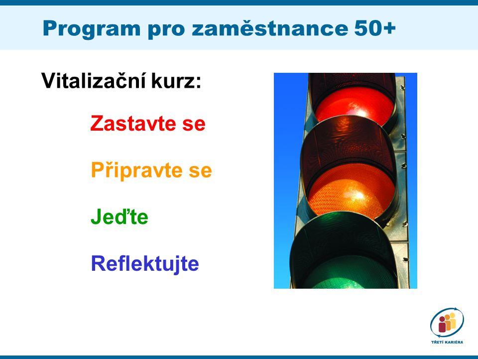 Program pro zaměstnance 50+ Vitalizační kurz: Zastavte se Připravte se Jeďte Reflektujte