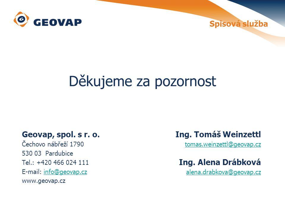 Spisová služba Geovap, spol.s r. o.