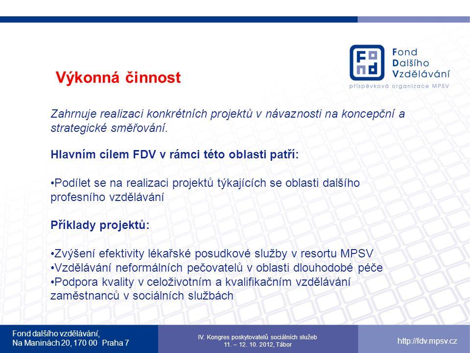 Fond dalšího vzdělávání, Na Maninách 20, 170 00 Praha 7 http://fdv.mpsv.cz 14.