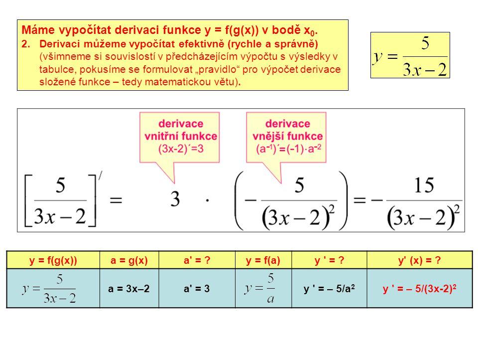 y = f(g(x))a = g(x)a = ?y = f(a)y = ?y (x) = .