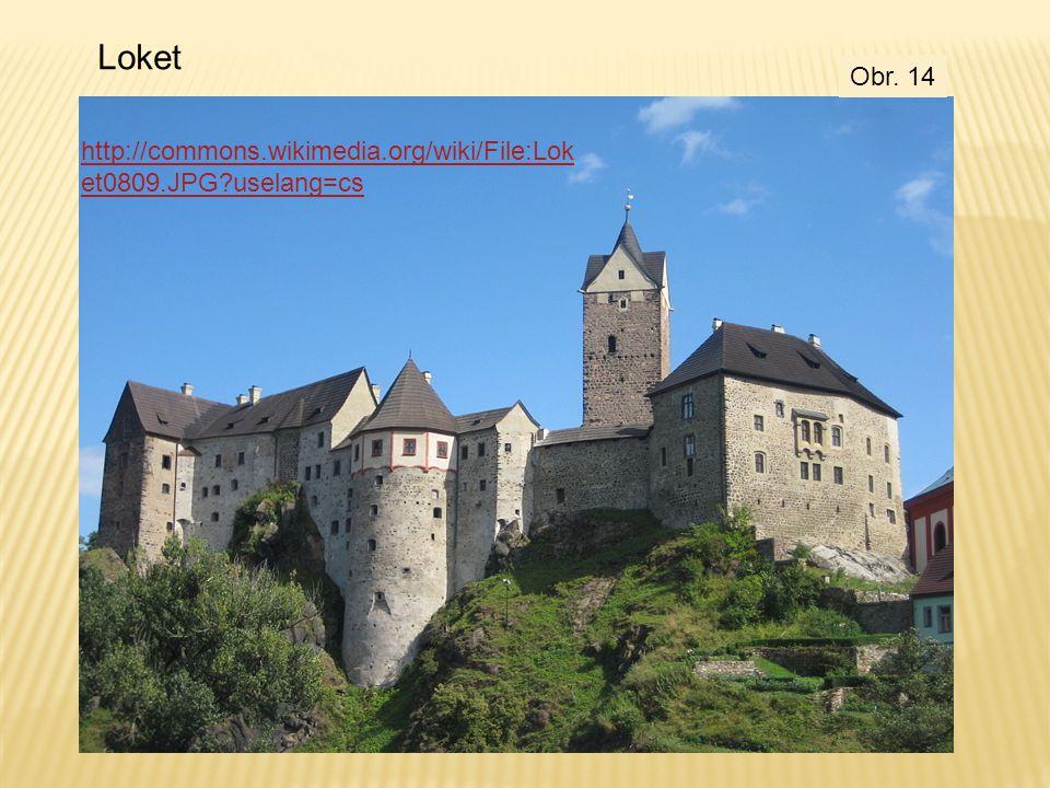 Loket http://commons.wikimedia.org/wiki/File:Lok et0809.JPG?uselang=cs Obr. 14