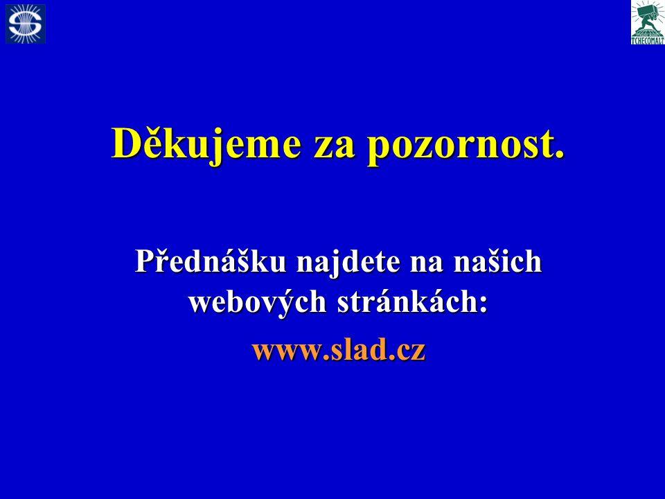 Děkujeme za pozornost. Přednášku najdete na našich webových stránkách: www.slad.cz