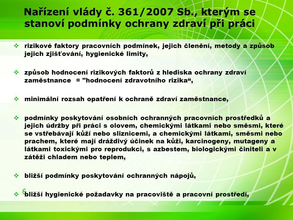 6 Nařízení vlády č.