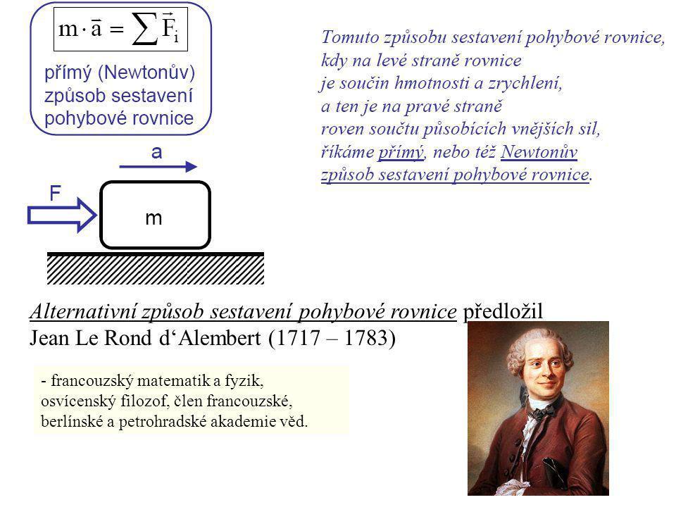 - francouzský matematik a fyzik, osvícenský filozof, člen francouzské, berlínské a petrohradské akademie věd. Alternativní způsob sestavení pohybové r