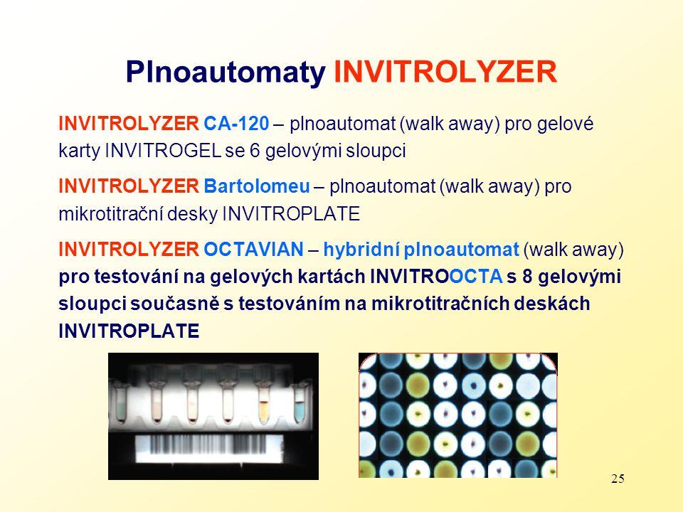 25 Plnoautomaty INVITROLYZER INVITROLYZER CA-120 – plnoautomat (walk away) pro gelové karty INVITROGEL se 6 gelovými sloupci INVITROLYZER Bartolomeu –