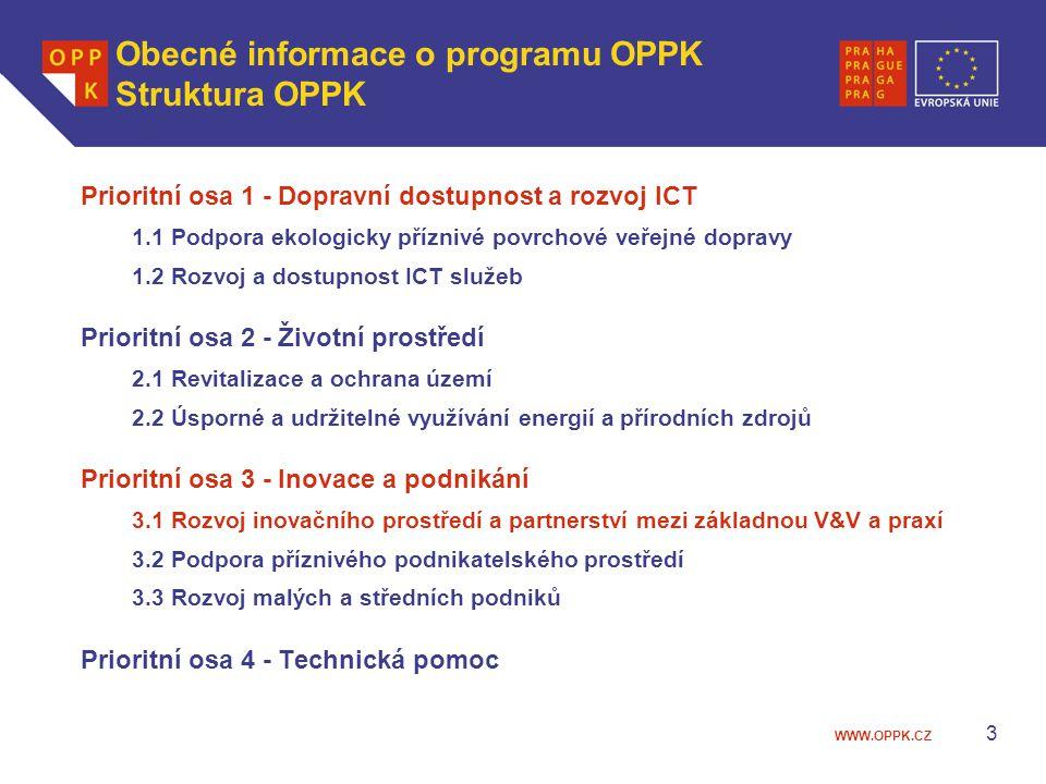 WWW.OPPK.CZ 4 Obecné informace o programu OPPK Alokace Celkový objem fin.