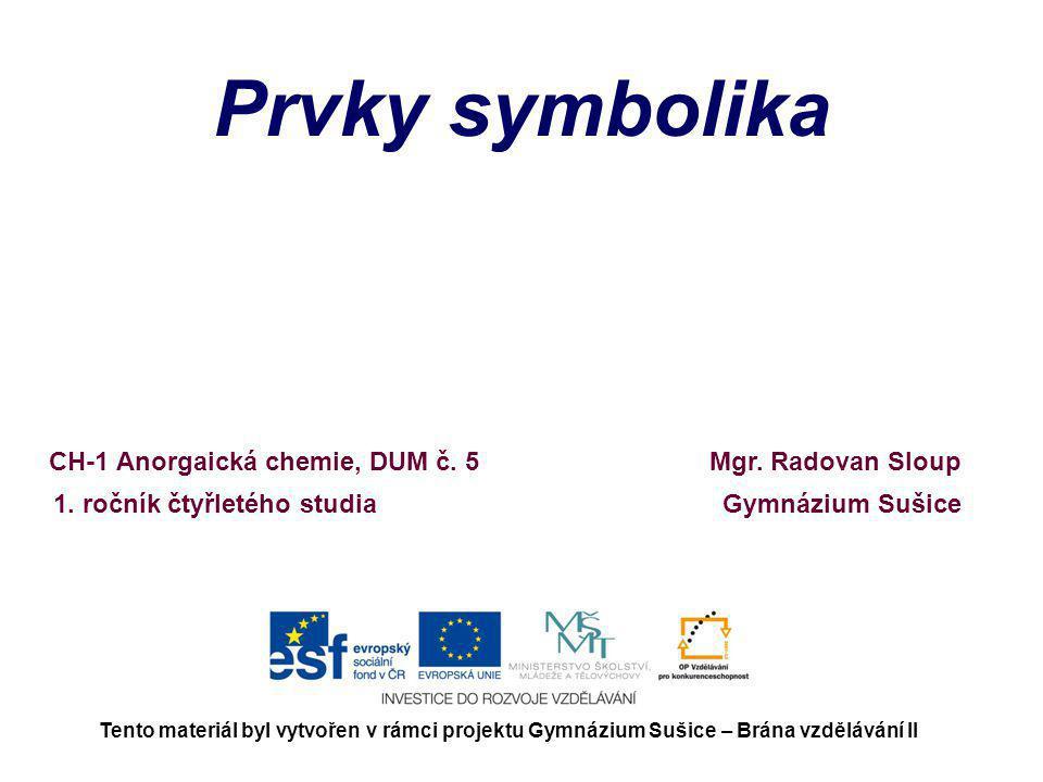 Prvky symbolika Mgr.