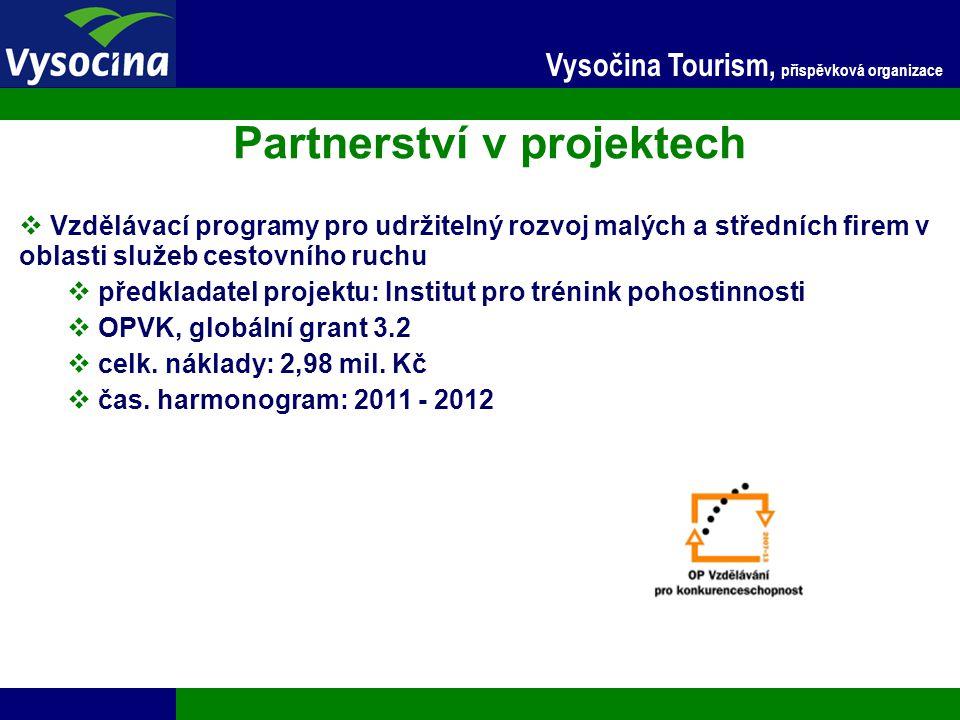 24.11.2014 12 Vysočina Tourism, příspěvková organizace Partnerství v projektech  Vzdělávací programy pro udržitelný rozvoj malých a středních firem v