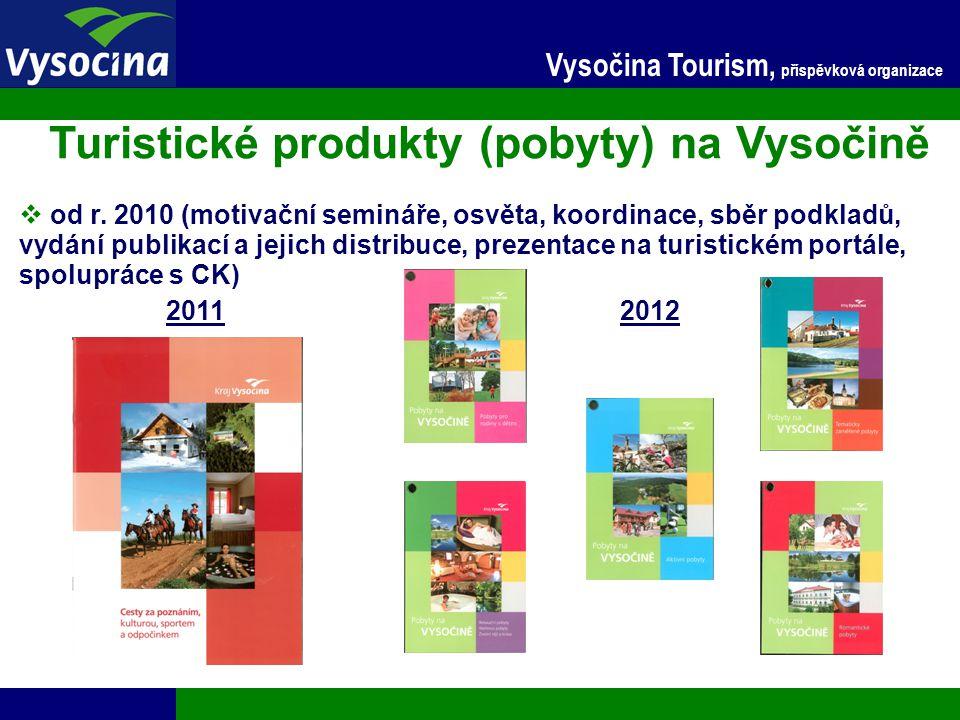 24.11.2014 14 Vysočina Tourism, příspěvková organizace Turistické produkty (pobyty) na Vysočině  od r. 2010 (motivační semináře, osvěta, koordinace,