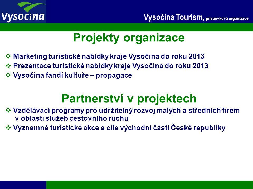 24.11.2014 4 Vysočina Tourism, příspěvková organizace Projekty organizace  Marketing turistické nabídky kraje Vysočina do roku 2013  Prezentace turi