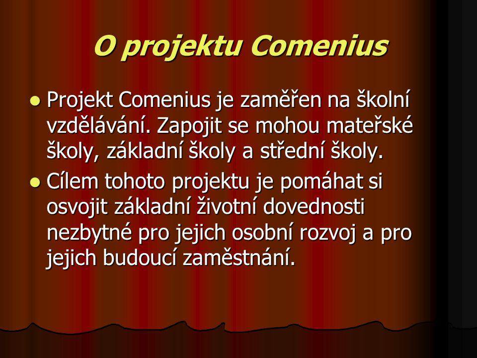 O projektu Comenius Projekt Comenius je zaměřen na školní vzdělávání.