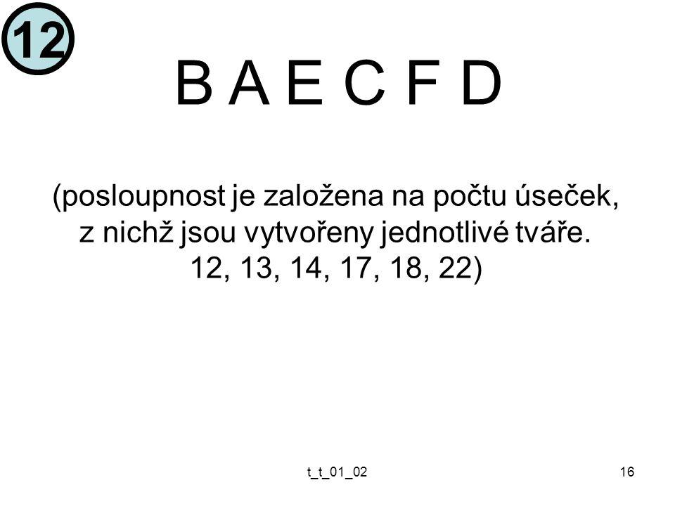 t_t_01_0216 B A E C F D (posloupnost je založena na počtu úseček, z nichž jsou vytvořeny jednotlivé tváře.