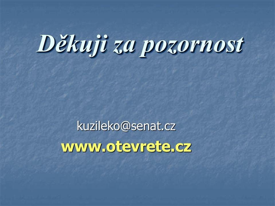 Děkuji za pozornost kuzileko@senat.czwww.otevrete.cz