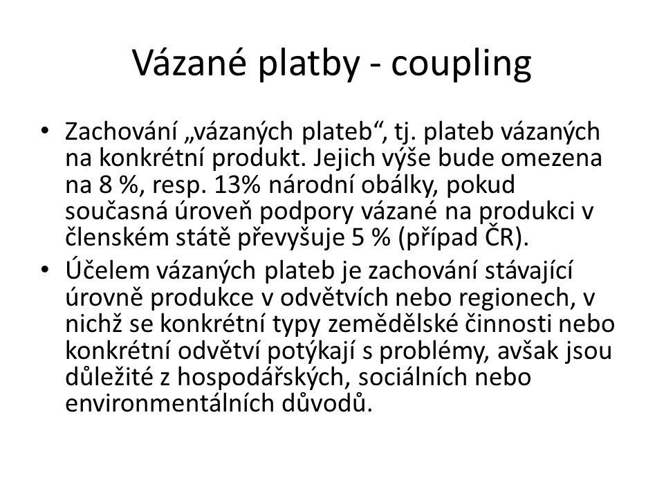 """Vázané platby - coupling Zachování """"vázaných plateb , tj."""