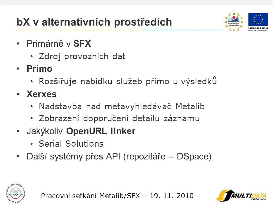 10 Pracovní setkání Metalib/SFX – 19. 11.