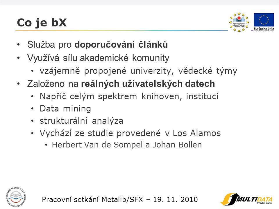 4 Pracovní setkání Metalib/SFX – 19. 11.