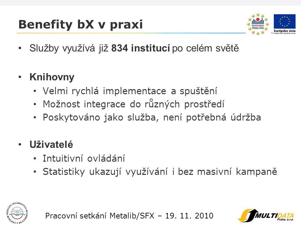 9 Pracovní setkání Metalib/SFX – 19. 11.