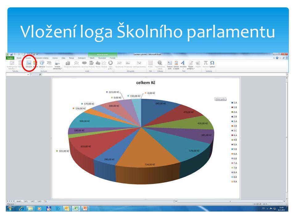 Vložení loga Školního parlamentu