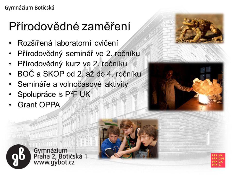 Rozšířená laboratorní cvičení Přírodovědný seminář ve 2.