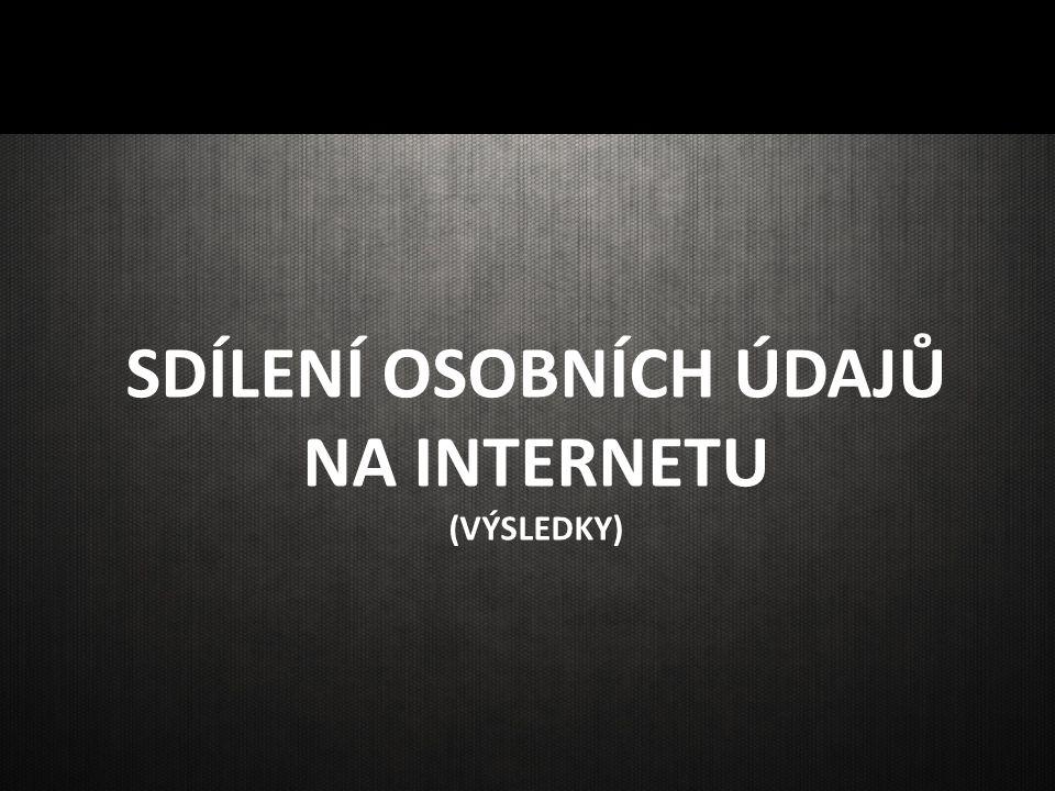 SDÍLENÍ OSOBNÍCH ÚDAJŮ NA INTERNETU (VÝSLEDKY)