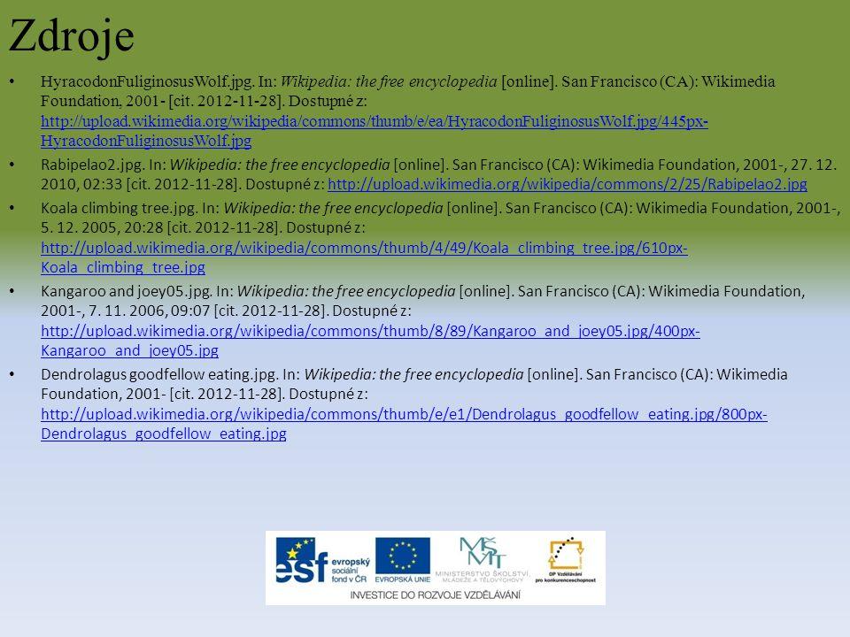 Zdroje HyracodonFuliginosusWolf.jpg. In: Wikipedia: the free encyclopedia [online]. San Francisco (CA): Wikimedia Foundation, 2001- [cit. 2012-11-28].
