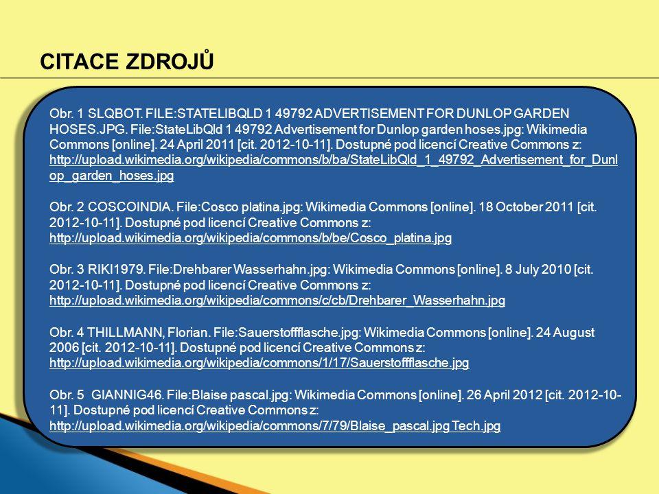 CITACE ZDROJŮ Obr. 1 SLQBOT. FILE:STATELIBQLD 1 49792 ADVERTISEMENT FOR DUNLOP GARDEN HOSES.JPG. File:StateLibQld 1 49792 Advertisement for Dunlop gar