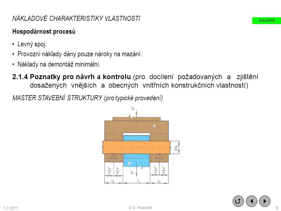 NÁKLADOVÉ CHARAKTERISTIKY VLASTNOSTI Hospodárnost procesů Levný spoj.